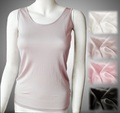 胸 乳首 デコルテ アトピーを下着で保護 タンクトップ 絹シルク100% 冷えとり