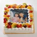 写真ケーキMサイズ(卵抜きケーキ豆乳クリーム)