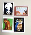雪の日◆ムツさんポストカード4枚組