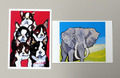 ポストカード2枚組◆ボストンの子供たち
