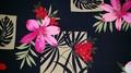 パンツ付きスカート / 手作りキット 型紙付き / 黒地、花