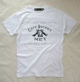【Cafe Racer's MET】S/S T-SHIRTS (Front Print)White