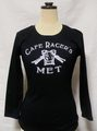 【Cafe Racer's MET】for Ledy's 3/4 Sleeve T-SHIRTS BLACK