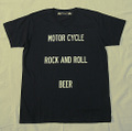"【HAMATOLA!】""Motorcycle-R&R-Beer"" V-Neck T-Shirts (Black)"