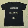 "【HAMATOLA!】""Motorcycle-R&R-Beer"" V-Neck T-Shirts (Black)"