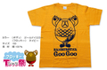 フロッキーTシャツ【ゴールドイエロー×ネイビー】160cm