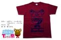 フロッキーTシャツ【バーガンディ×パープル】160cm