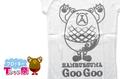 レディースラグランフロッキーTシャツ【ホワイト×ホワイト×グレー】S