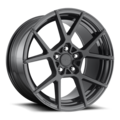KPS  Matte black center glossy black rim