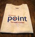 『Point』 半袖デザインTシャツ(ナチュラルカラー)