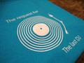 『The last DJ T-Blue Table』 半袖デザインTシャツ(T・ブルー)