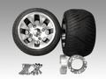 ジャイロ用ツートンアルミホイール扁平タイヤ&スペーサー40mmセット品番152