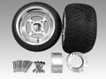 ジャイロ用クロスアルミホイール扁平タイヤ&スペーサー70mmセット品番144