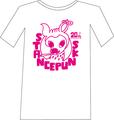 バンビTシャツ<白×ピンク(WEB限定カラー)>★残り2枚★