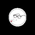 DOTAMA メガネ缶バッジ