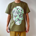 DeadStock!「lettering skull」TEE : KHAKI