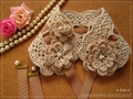 手編みヘッドドレス(紅茶染1)