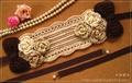 手編みヘッドドレス(紅茶染2)