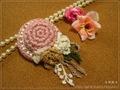 花飾りのミニハット中(Pk)