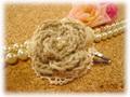 手編みモチーフのヘアピンA(Bg)