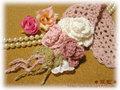 手編みヘアバンドE