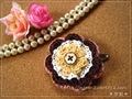 4色編みモチーフのヘアピン