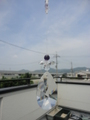 クリスタルガラス涙型50mm天使のサンキャッチャー