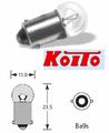 6V 1.5W G10/BA9s Koito 1155