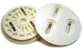 BURTON 3D Rear   Disk WHITE×2