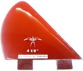 DONALD TAKAYAMA DESIGNS HALO SIDE FIN  4 1/8 T.RED