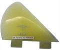 DONALD TAKAYAMA DESIGNS HALO SIDE FIN  4 1/8 CLEAR