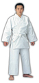 柔道衣セット(上衣+ズボン+帯)ホワイト・適合身長140~150cm