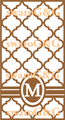 モロッカン・イニシャルリボン白×ゴールド系
