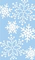 雪の結晶 水色・白