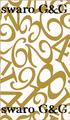 ナンバーモノグラム 白×ゴールド