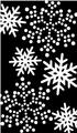 雪の結晶 黒・白
