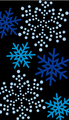 雪の結晶 黒・ブルー