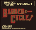 BARBER-CYCLE sticker