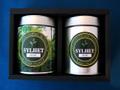 ギフトセット:リーフ80g缶入り+水出し用8パック缶入り、またはティーバッグ20ヶ缶入り:ギフト箱2缶用