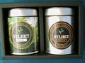 ギフトセット:リーフ80g缶入り+スペシャルティーバッグ20ヶ缶入り・ギフト箱2缶用