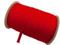 ウーリー カラー (赤) ポリエス テル ストラップ 平紐 100M ボビ ン巻 幅:10mm