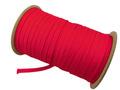 ウーリー カラー (赤) ポリエス テル ストラップ 平紐 100M ボビ ン巻 幅:7mm