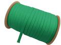 ウーリー カラー (緑) ポリエス テル ストラップ 平紐 100M ボビ ン巻 幅:10mm