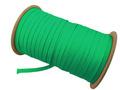 ウーリー カラー (緑) ポリエス テル ストラップ 平紐 100M ボビ ン巻 幅:7mm