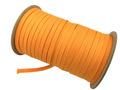 ウーリー カラー (オレンジ) ポ リエステル ストラップ 平紐 100 M ボビン巻 幅:7mm