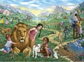 楽園でライオンと遊ぶ N84-5
