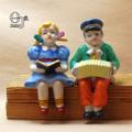 オキュパイドジャパン 音楽を楽しむ少年と少女