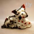 オキュパイドジャパン テリア犬の親子 磁器人形