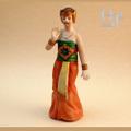 オキュパイドジャパン 東南アジア 踊る女性 ビスク人形