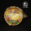 菊図キャンディ皿 中部陶器 1960年代 輸出品